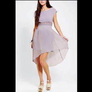 UO Kimchi Blue 3D Lace Pleated Dress